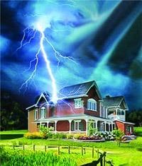 Молниезащита зданий, молниеприемник г.Абакан