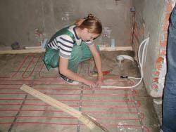 Монтаж электрического теплого пола в Абакане. электрический теплый пол