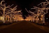 Подключение освещения зданий в Абакане